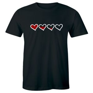 One Heart And Half Left Valentines Day T-shirt Tee
